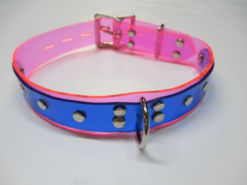 Vegan Friendly Duo PVC Colour Front Dee Ring Feature Locking Play Collar